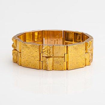 "Björn Weckström, A 14K gold bracelet ""Quadrate forms"". Lapponia 1967."