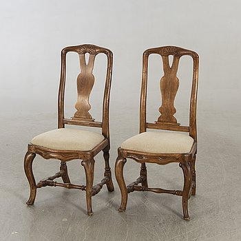 Chairs, a pair, Rococo, Sweden, second half of the 18th century.