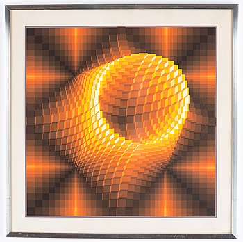 Jean-Pierre Vasarely, silkscreen in colours, signed 162/200.