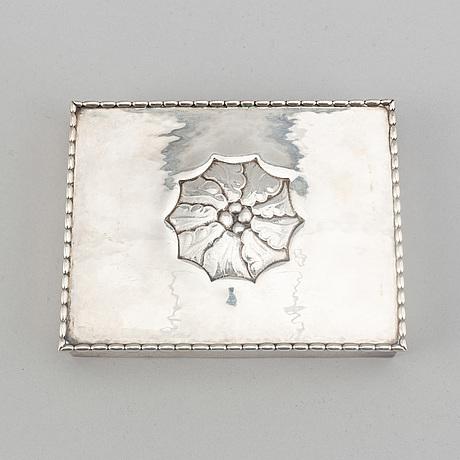 Georg jensen, spelkortsetui, , silver, 1919.
