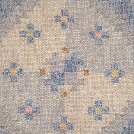 Anna-johanna ångström, a carpet, flat weave, ca 235-236,5 x 165-166 cm, signed å.