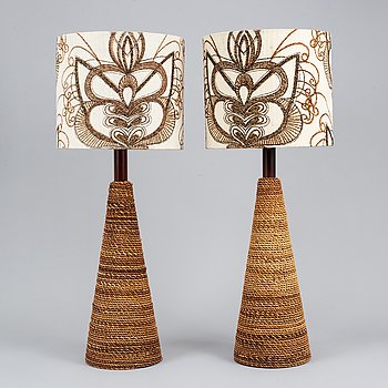 Two table lamps, second half 1900's.