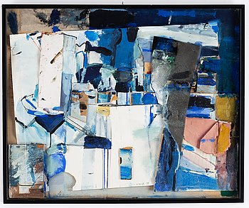 Carl Wargh, collage, signed and dated -99.