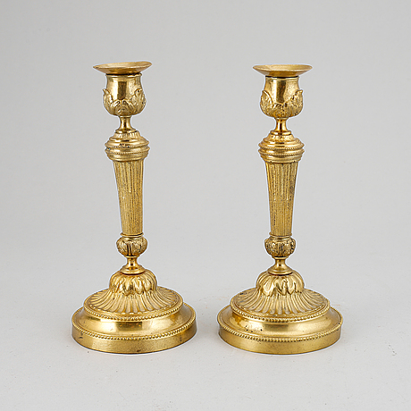 A pair of louis xvi-style candlesticks, ca 1900.