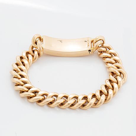 Armband 14k guld, pansarlänk.