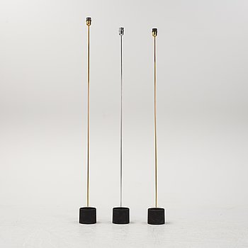 Gigi & Pepe Tanzi, three Italian floor lights, Dalca, 1970's.