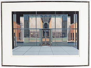 Richard Estes, silkscreen in colours, 1972, signed 58/75.