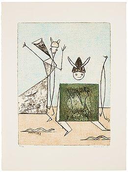"""758. Max Ernst, """"Festin"""" (Pierre Hebey)."""