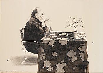 """437. David Hockney, """"Henry at table""""."""