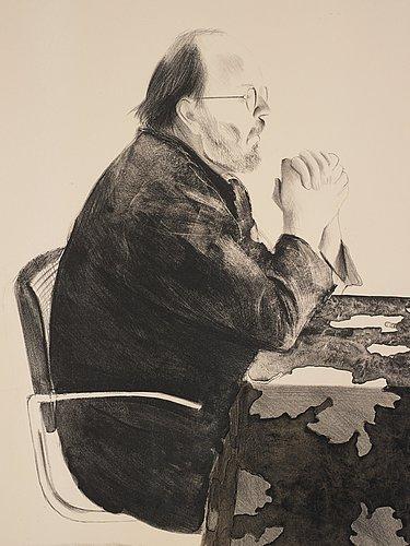 """David hockney, """"henry at table""""."""