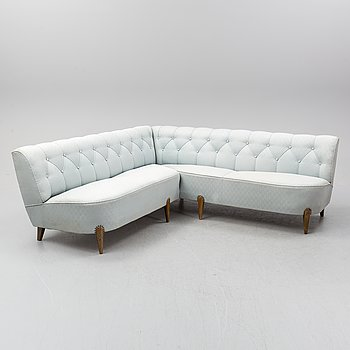 Otto Schulz, attributed to. A Swedish Modern corner sofa, Boet, 1930's/40's.