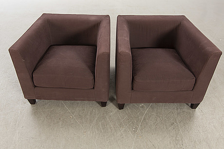 Meridian armchairs, two pcs, later part of the 20th century.