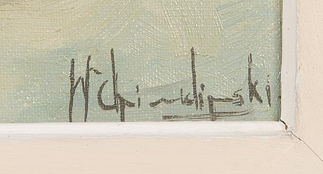 Wladyslaw chmielinski, oil on canvas, signed.
