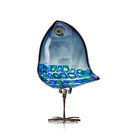 "Alessandro pianon, a ""pulcino"" glass bird by vistosi, italy 1960's."