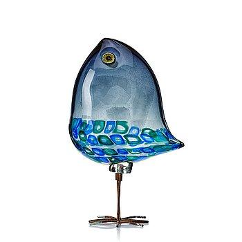 "62. Alessandro Pianon, a ""Pulcino"" glass bird by Vistosi, Italy 1960's."