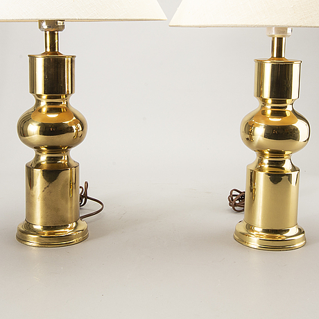 Table lamps, a pair, aneta. 1970s.