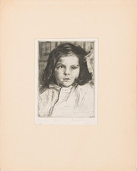 Kaarlo Hildén, etching, signed and dated 1928, marked T.p.l'a. Dedication.