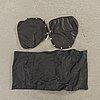 Armstödsklädsel till pernilla dux, 2 st skinn, klädsel till 1 pernilla fotpall, skinn.