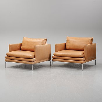 A pair of 'William' easy chairs by Damian Williamson for Zanotta. Designed  2010-15.