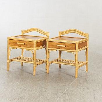 Dux, bedside table, rattan, 80s.
