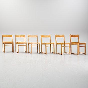 Sven Markelius, six chairs.
