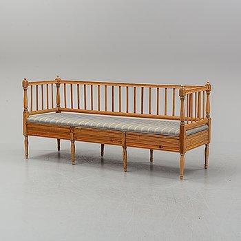 Soffa, gustaviansk, 1800-talets första hälft.