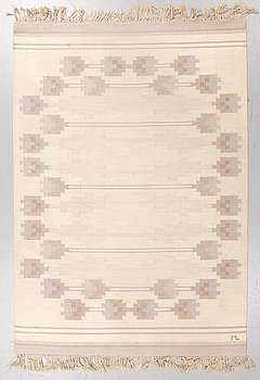 A carpet, double weave, ca 235-237 x 165-166 cm, signed ML (according to the owner Margareta Lundahl).