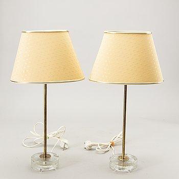 Table lamps, a pair, Falkenberg. 1960s.