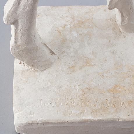 Jussi mäntynen, a plaster sculpture, signed jussi mäntynen and dated 1948.