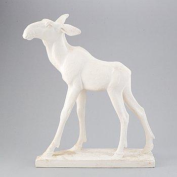 Jussi Mäntynen, skulptur, gips, signerad Jussi Mäntynen och daterad 1948.