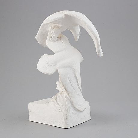 Jussi mäntynen, a plaster sculpture, signed j. mäntynen and dated 1959.