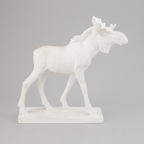 Jussi mäntynen, a plaster sculpture, signed jussi mäntynen and dated 1951.