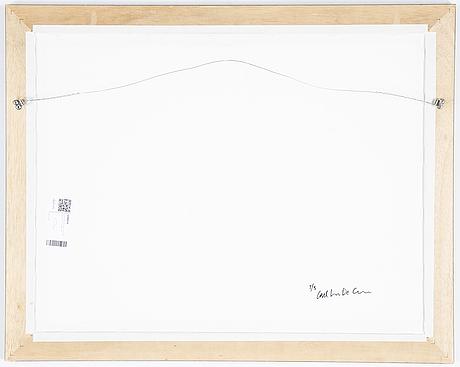 Carl johan de geer, photo, signed 1/3 verso.