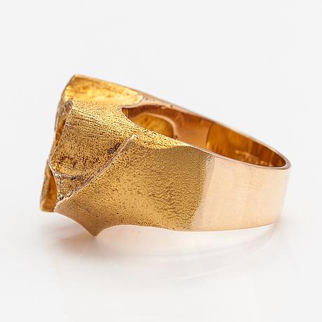 "Björn weckström, a 14k gold ring ""gold peak"". lapponia 1972."