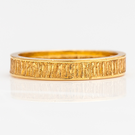 "Björn weckström, ring ""lapp gold"", 18k guld. lapponia 1972."