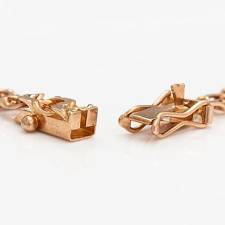Halsband och armband, 14k guld. finland 1979.