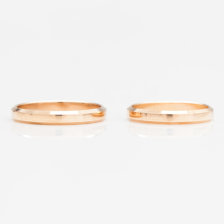 Two 14k gold rings. kulta-kontu, helsinki 1977-78.