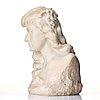 Arsène matton, skulptur. signerad matton. marmor byst, höjd 46 cm.