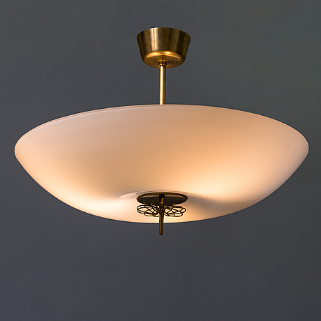 Paavo tynell, a mid-20th-century ceiling lamp for idman finland.