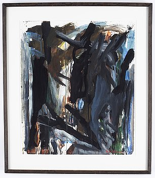 Björn Wessman, watercolor, signed.