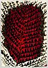 Kirsti ilvessalo, a finnish long pile ryijy rug model friends of finnish handicraft. circa 160x108 cm.