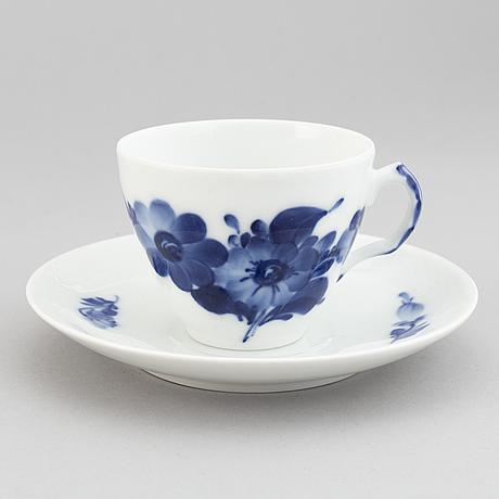 Royal copenhagen, a part 'blå blomst' coffee service, denmark (40 pieces).