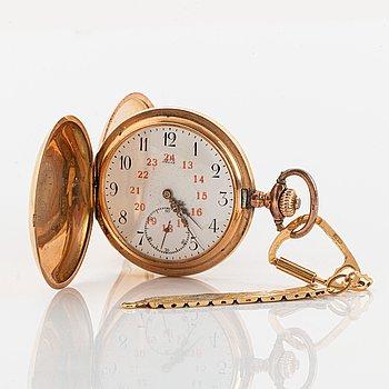 Omega, pocket watch, hunter, 53 mm.