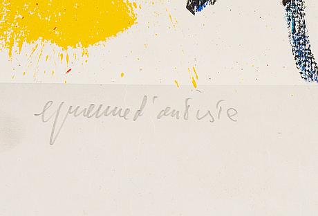 Karel appel, lithograph in colors, 1961, signed, epreuve d'artiste.