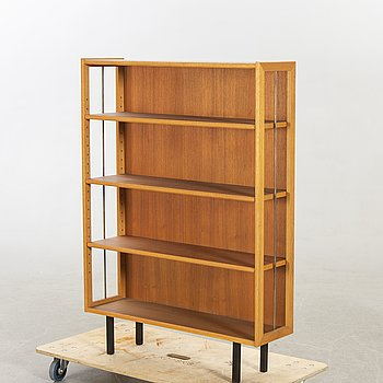 Bookcase, 1950s-60s, Teak, metal legs.