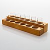 Tapio wirkkala, a set of six 'niva' snaps glasses. original wooden box.