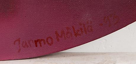 Jarmo mäkilä, oil on canvas, laid on board, signed and dated -93.