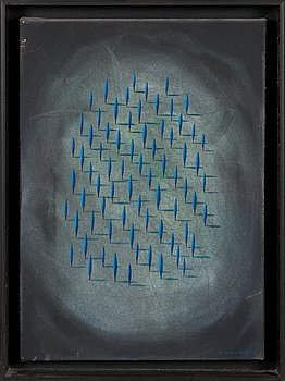 Kristian Krokfors, acrylic on canvas, signed and dated -86.