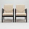 Alvar aalto, a pair of mid-20th century '403' armchairs for artek.