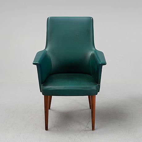 Three armchairs by anonima castelli, 1950's.